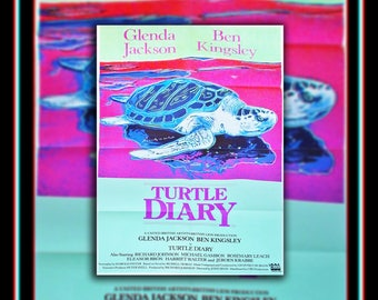 TURTLE DIARY (1986) Design Andy Warhol Very Rare 27x40 Fold US One Sheet Movie Poster Original Vintage Collectible