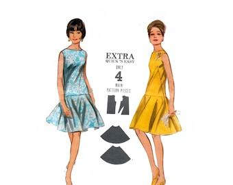 60s Drop Waist Dress pattern vintage pattern 34-26-36 Sleeveless Dress pattern Sundress pattern Butterick 3578