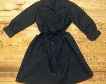 Red Workwear Work Long Teacher Lab Coat Smock Best Manufacturing Vintage Snap Up Men's Medium 7XdUU4k5Ox
