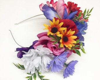 Frida Inspired Flower Crown Headband