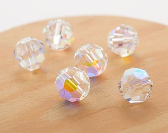 Swarovski crystal 10mm beads small packaging 6 pc. Crystal (001) AB 5000