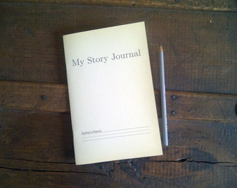 My Story Journal - Vintage Inspired - Staple Bound Up-cycled Notebook Cahier Journal
