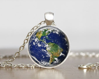 Earth Pendant Jewelry  Earth Necklace