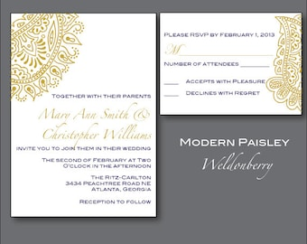 Invitation card envelope matter gallery invitation sample and indian wedding invitation suite printed wedding kankotri modern paisley wedding invitation suite printable or printed cards stopboris Images