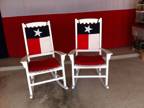 Texas Flag Chair And Rocker Cushions For Your Indoor Or