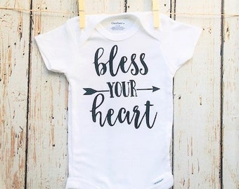 Onesie - Bless Your Heart - Baby Shower Gift / Photo Prop / Newborn Gift / Baby Gift