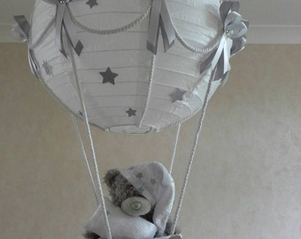 Hot air balloon nursery light shade with winnie the pooh hot air balloon nursery light shade with tatty teddy made to order aloadofball Images