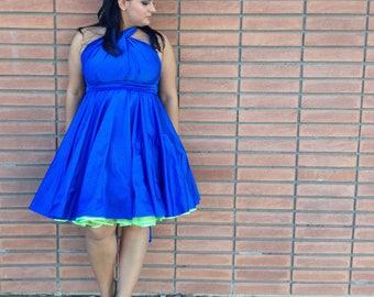 Royal Blue Bridesmaids Convertible Wrap Dress XS-5XL Beach Wedding, Bridal Party Dress, Destination Wedding, Bridal Shower