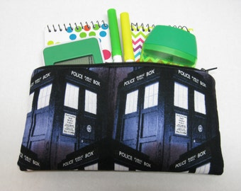 Dr Who Pencil Or Cosmetic Case