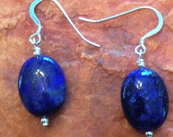 Lovely Lapis Lazuli Dangle Earrings
