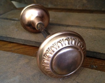 Antique decorative brass  doorknob set hardware