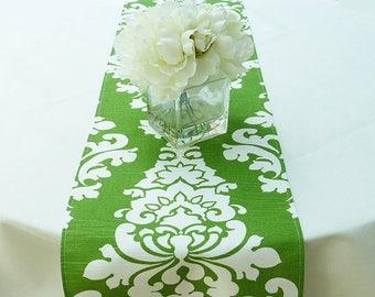 Green Home Decor, Table Runner for Wedding Party, Wedding Linen Table Decorations, Green Table Decor, Green Kitchen Decor, Wedding Gift