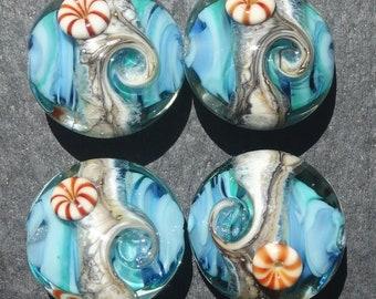 Lampwork Lentils (4) Seashore