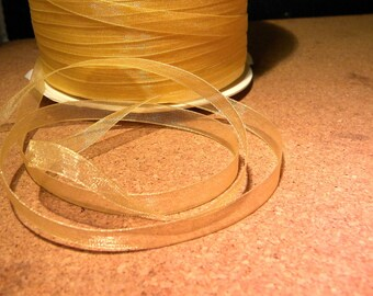 10 meter of 6 mm organza Ribbon - champagne-OR2