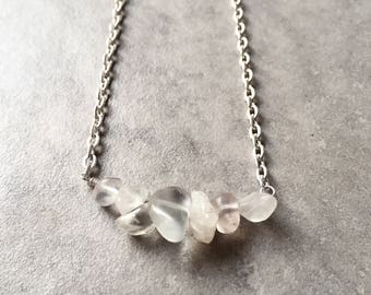 Clear Flourite Necklace