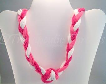 Sensory Jewelry size Large Pink and White
