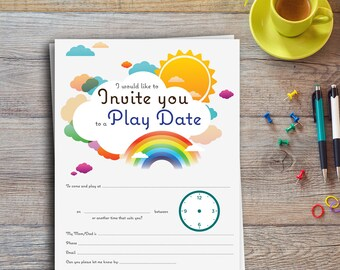 Play Date Postcard