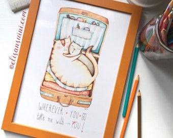 Wherever you go - Watercolour illustration, by Elisa Ansuini