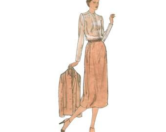 70s uncut Balmain Skirt Suit pattern Vogue Paris Original pattern vintage 34-26.5-36 vogue 2201