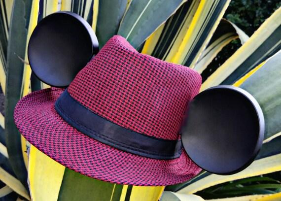 Mickey Valentine Ears. Mickey heart ears. Mickey ears fedora.