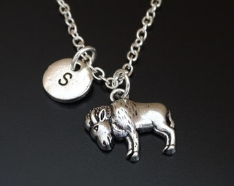 Buffalo Necklace, Buffalo Charm, Buffalo Pendant, Buffalo Jewelry, Buffalo Girls, Buffalo Head, Bison Necklace, Bison Jewelry, Farm Animals