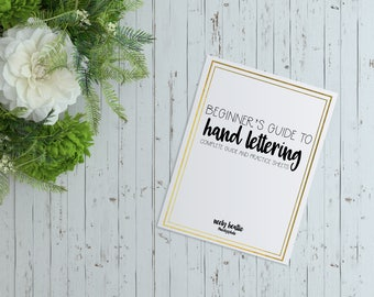 Beginner's Guide to Hand Lettering (+ practice worksheets & bible journaling)