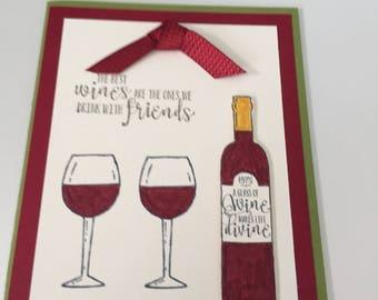 Wine is like Friends
