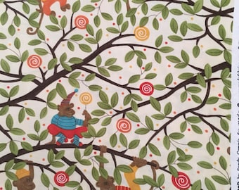 Monkey fabric by moda 2 3/4 yards