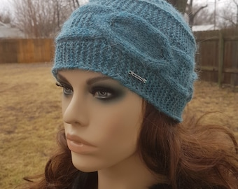 Alpaca Hat / Winter Hat / Knitted Hat/ Great Gift Ideas/ Beanie Hat/ Winter Accessory/ Hat for Woman/ Handmade