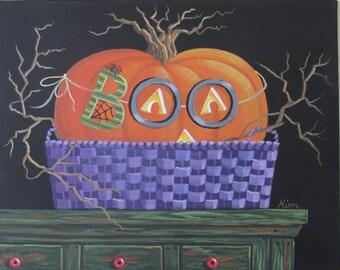 Peek-A-Boo! Folk Art Print