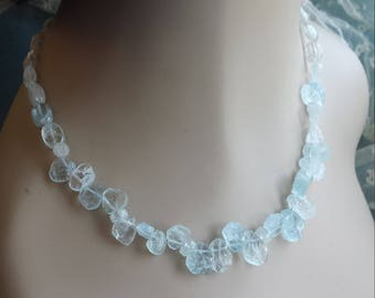 Natural Aquamarine one strand necklace