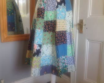 Patchwork, Wrap Skirt from the 1970s/80s size 8-10 (uk)