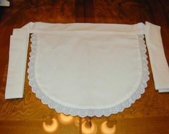 White Cotton French Maid Waitress Apron