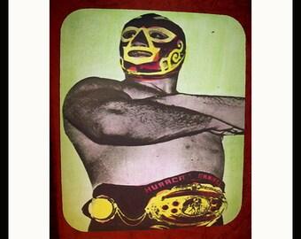 Mexican wrestler mouse pad retro lucha libre vintage mexico pop culture kitsch luchador