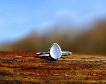 Periwinkle Blue Chalcedony Ring