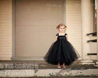 Classic Black Flower Girl Tutu Dress