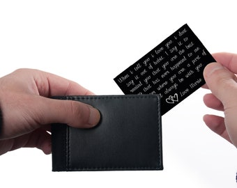 When I Tell You I Love You Wallet Card, Engraved Wallet Insert, engraved wallet card, Custom Wallet Card, Custom Wallet Insert