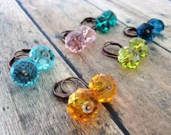 Crystal Earrings, Dangle Earrings, Drop Earrings, Copper Earrings, Vintage Style Earrings, Shabby Chic Earrings, Austrailian Crystal Earring