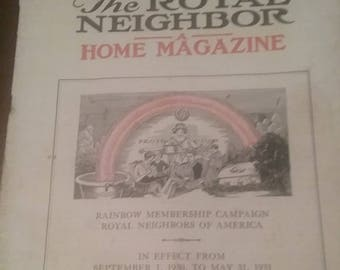 Vintage The Royal Neighbor Home Magazine September 1,  1930 to May 31, 1930