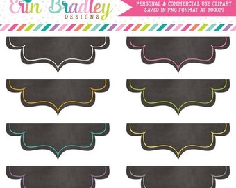 80% OFF SALE Chalkboard Clip Art Frames Clipart Labels Personal & Commercial Use Digital Tag Graphics Instant Download