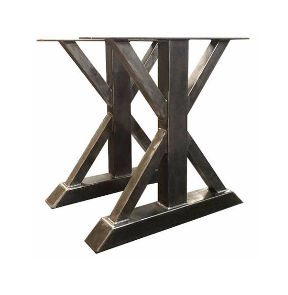 Delicieux Dining Table Height 28 1/2 Tall Metal Trestle Style