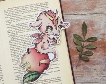 Vitamin Dragon - Apple - bookmark - made to order