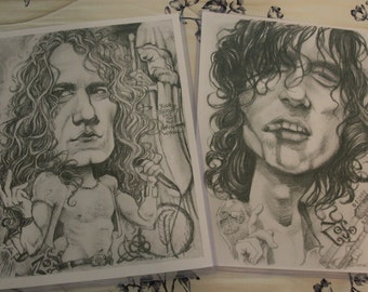 Led Zeppelin caricature set by Sheik