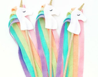 Unicorn Party, Girl Birthday Party Idea, Birthday Wands, Unicorn Party Favor, Princess Party, Woodland Party, Enchanted Birthday, Fairy Wand