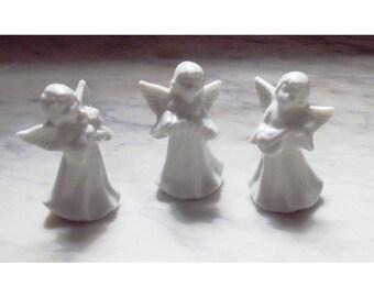 3 Vintage Little White Angels
