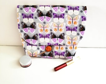 Butterfly makeup bag/cosmetic bags/toiletry bag/Butterfly clutch/Butterfly bag/Mother's Day gift/Gifts for Mom/