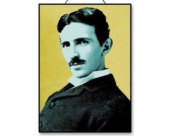 Nikola Tesla Printable Instant Download Poster Wall Art