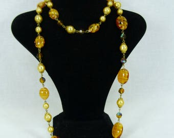 Vintage Venetian MURANO Swirl glass necklace