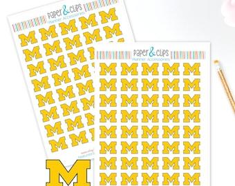 40 University of Michigan Reminder Stickers