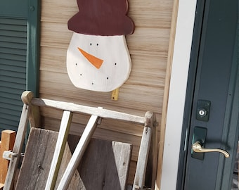 Snowman, Primitive Snowman, Outdoor Sign, Winter Sign, Wood Sign, Rusty Star, Christmas, Rustic Sign, Home Decor, Door Sign, Porch Sign